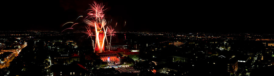 The University of Texas at Austin commencement fireworks